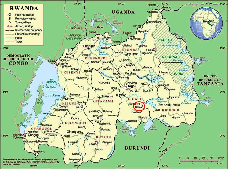 Cartina Rwanda